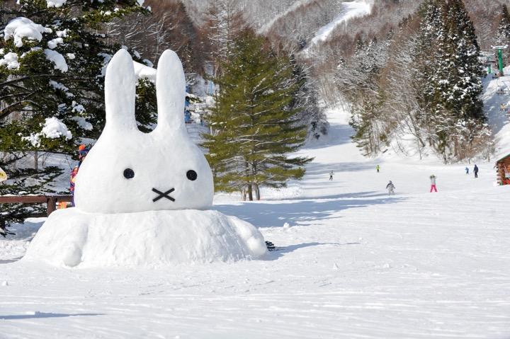 冬のかたしな高原スキー場